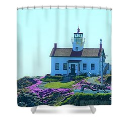 Crescent City Lighthouse Shower Curtain