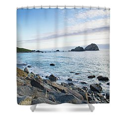 Crescent City Sunset Shower Curtain