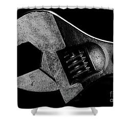 Shower Curtain featuring the photograph Adjustable by Douglas Stucky