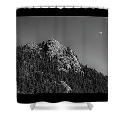 Shower Curtain featuring the photograph Crescent Moon And Buffalo Rock by James BO Insogna