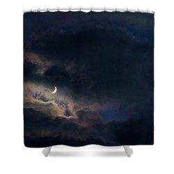 Crescent Moon In Hocking Hilla Shower Curtain