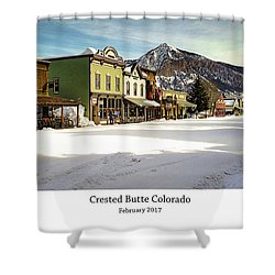 Crested Butte Shower Curtain