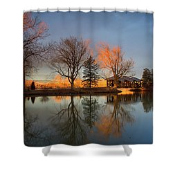 Shower Curtain featuring the photograph Cresting Sunlight by John De Bord