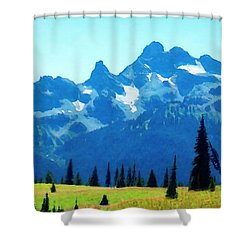 Shower Curtain featuring the photograph Crests And Gaps by Timothy Bulone