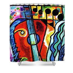 Creve Coeur Streetlight Banners Whimsical Motion 10 Shower Curtain