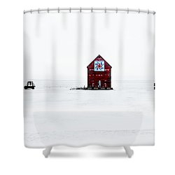 Shower Curtain featuring the photograph Crib Quilt by Julie Hamilton