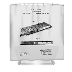 Cribbage Board 1879 Patent Art Transparent Shower Curtain