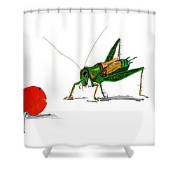 Cricket  Joy With Cherry Shower Curtain