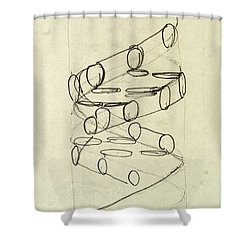 Cricks Original Dna Sketch Shower Curtain