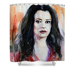 Criminal Minds Emily Prentiss Shower Curtain