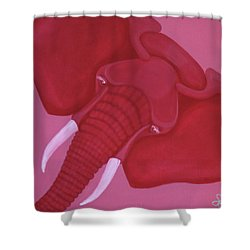 Crimson Elephant Shower Curtain