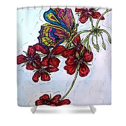 Crimson Fancy Shower Curtain