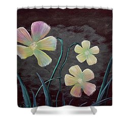 Crimson Flower Shower Curtain