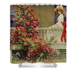 Crimson Rambler Shower Curtain by Philip Leslie Hale