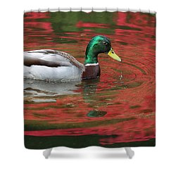 Crimson Reflections Shower Curtain