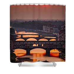 Crimson River Shower Curtain