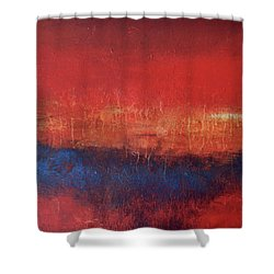 Crimson Sky Shower Curtain by Filomena Booth