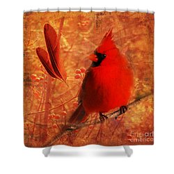 Crimson Splash 2015 Shower Curtain