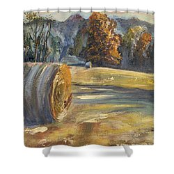 Crisp Air And Sunset Kisses Shower Curtain