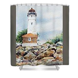 Crisp Lighthouse Shower Curtain