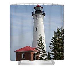 Crisp Point Shower Curtain