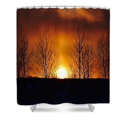 Crisp Sunset Shower Curtain