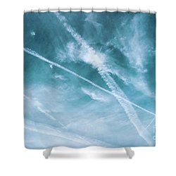 Shower Curtain featuring the photograph Criss-cross Sky by Colleen Kammerer