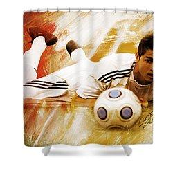 Cristiano Ronaldo 092f Shower Curtain by Gull G
