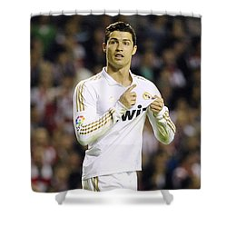Cristiano Ronaldo 4 Shower Curtain