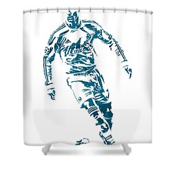 Cristiano Ronaldo Real Madrid Pixel Art 1 Shower Curtain