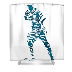 Cristiano Ronaldo Real Madrid Pixel Art 3 Shower Curtain