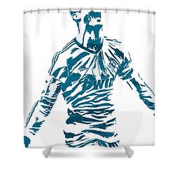 Cristiano Ronaldo Real Madrid Pixel Art 4 Shower Curtain