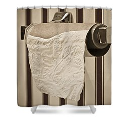 Critical Thinking Shower Curtain by Charles Dobbs