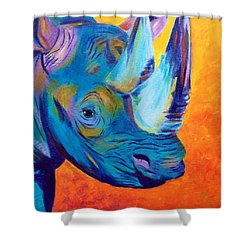 Critically Endangered Black Rhino Shower Curtain