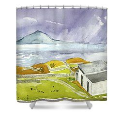 Croagh Patrick And Purple Sky Shower Curtain