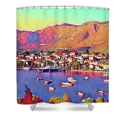 Croatia Coastal Living Shower Curtain