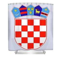 Croatia Coat Of Arms Shower Curtain by Movie Poster Prints