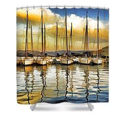 Croatia Marina Shower Curtain