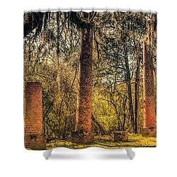 Crocheron Columns Old Cahawba Shower Curtain by Phillip Burrow