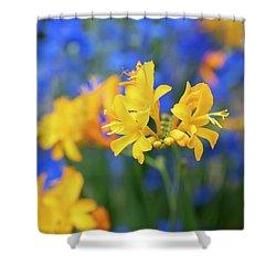 Crocosmia Pauls Best Yellow Flower Shower Curtain