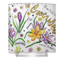 Crocuses Shower Curtain