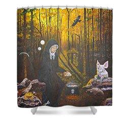 Crone Goddess Keridwen - Samhain Shower Curtain