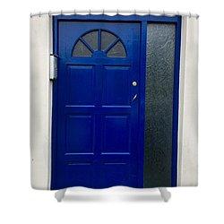 Crooked Blue Door In  Ireland  Shower Curtain
