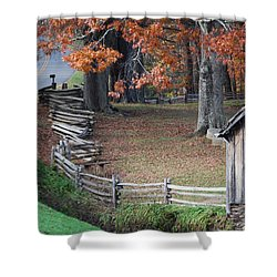 Crooked Fence Shower Curtain