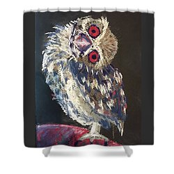 Crooked Owl Shower Curtain