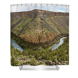 Crooked River Gorge Shower Curtain by Joe Hudspeth