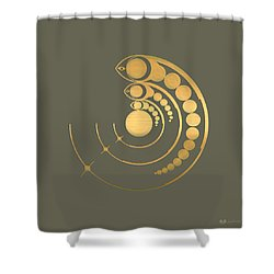 Crop Circle Formation Near Avebury  Shower Curtain