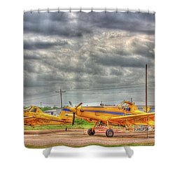 Crop Duster 003 Shower Curtain by Barry Jones