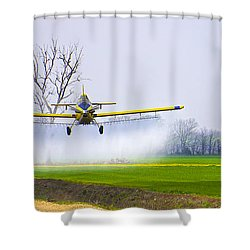 Precision Flying - Crop Dusting 1 Of 2 Shower Curtain