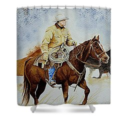 Cropped Ranch Rider Shower Curtain